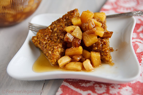 Pumpkin Oatmeal Cakes with Apple-Pecan Compote Recipe