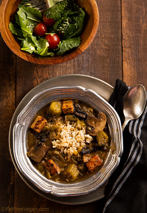 Mushroom and Tempeh Gumbo Recipe