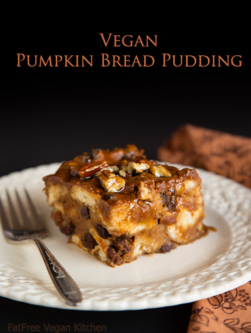 Vegan Pumpkin Bread Pudding
