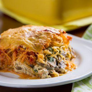 Spaghetti Squash Pesto Lasagna