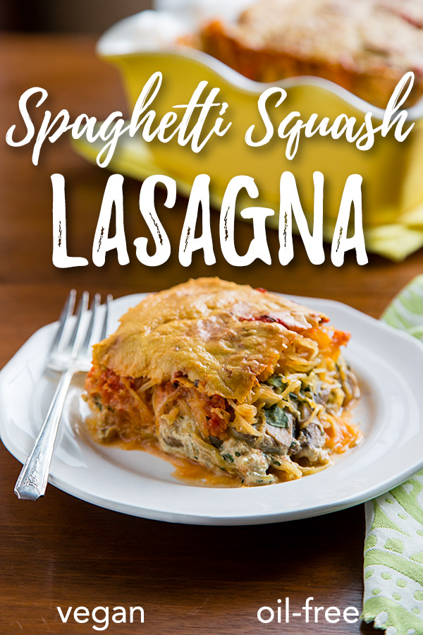 Spaghetti Squash Pesto Lasagna: You won't believe there's no cream or cheese in this rich, low-carb, gluten-free spaghetti squash lasagna. Fresh basil gives it a fresh, peppery zing.