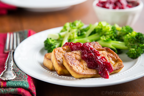 Baked Tofu with Jalapeño-Orange Cranberry Sauce