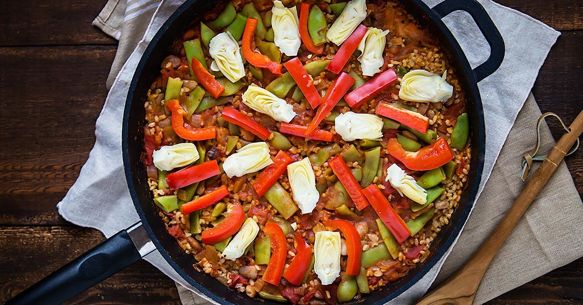 Brown Rice Vegetable Paella