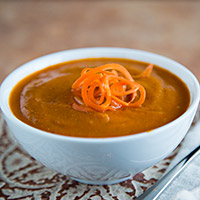 Gingery Carrot and Tomato Soup