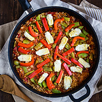 Vegan Brown Rice Paella Recipe