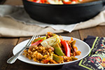 Thumbnail image for Brown Rice Vegetable Paella
