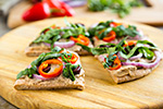 Thumbnail image for Hot and Baba'd Pita Pizza (Spicy Baba Ganoush)