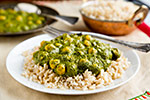 Thumbnail image for Creamy Curried Kale and Chickpeas