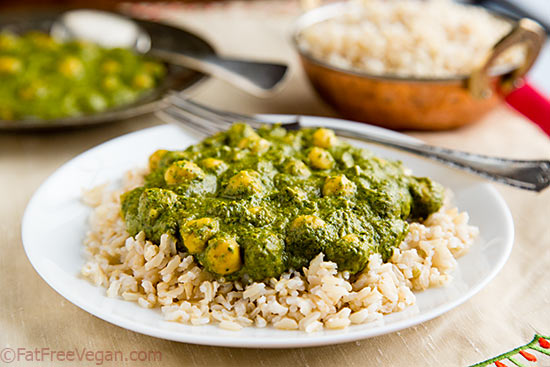 Creamy Curried Kale and Chickpeas