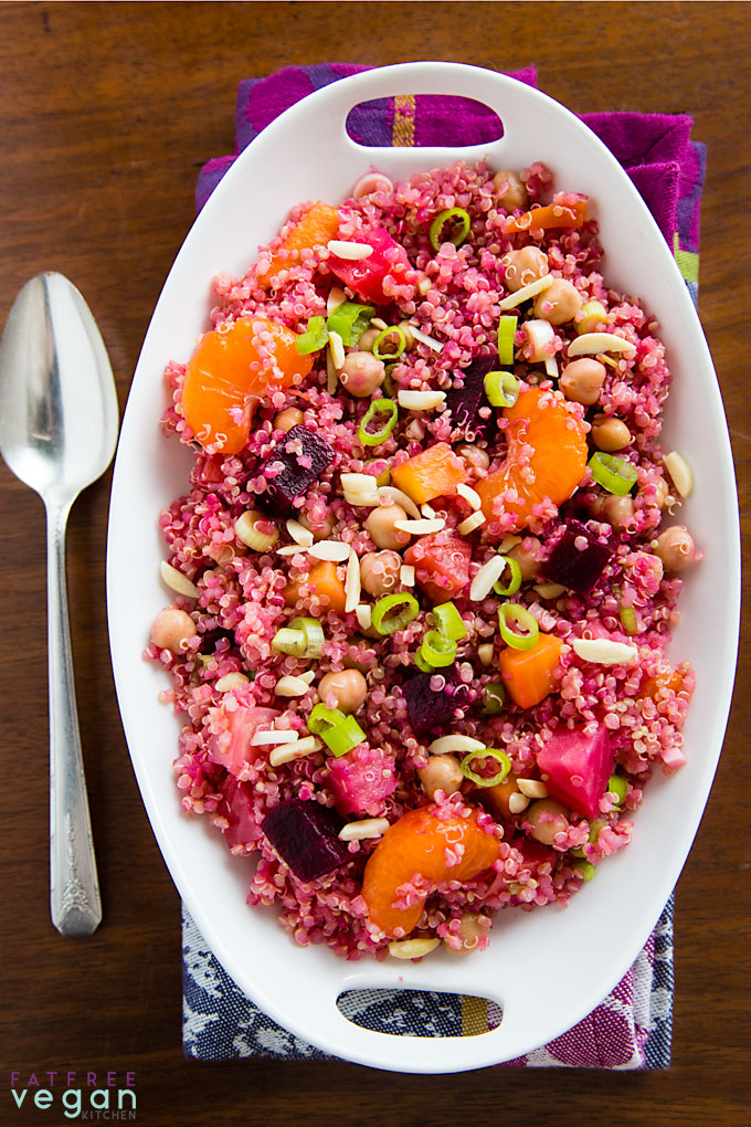 Beet And Quinoa Salad With Maple Balsamic Reduction Fatfree Vegan Kitchen