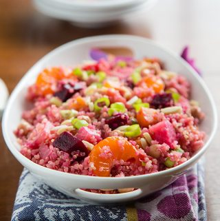 Beet and Quinoa Salad with Maple-Balsamic Reduction