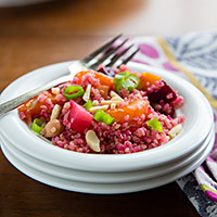 Beet and Quinoa Salad with Balsamic-Maple Reduction