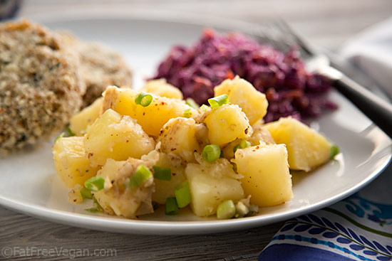 Vegan german potato salad recipe oil free vegan german potato salad forumfinder Gallery