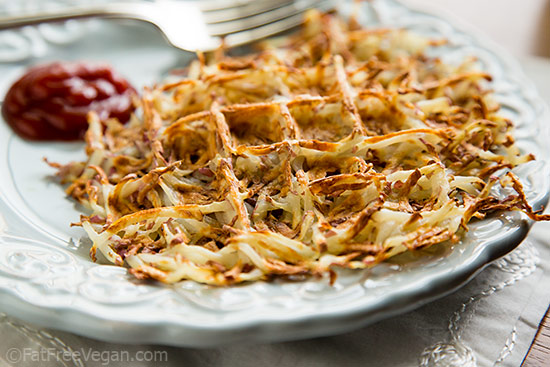 Fat-Free Waffle Iron Hash Browns