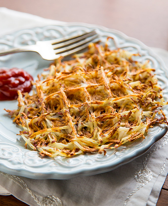 Oil-Free Waffle Iron Hash Browns