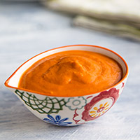 Garlicky Roasted Red Pepper Dressing