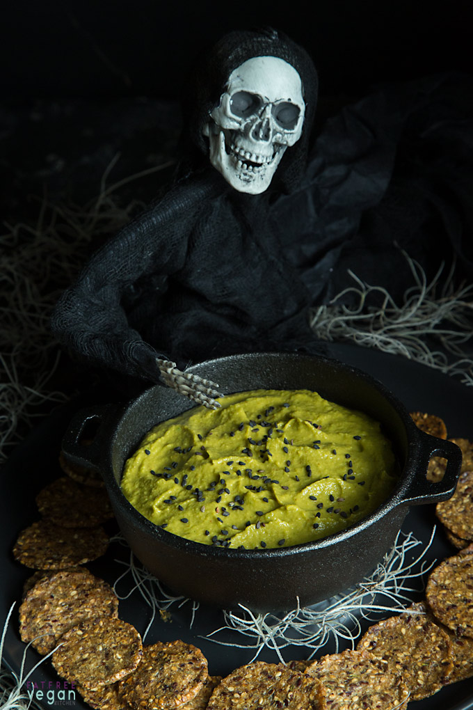 Killer Jalapeño Hummus: Give your Halloween party a killer kick with this spicy, green hummus.