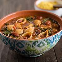 Pasta Fagioli with Cranberry Beans and Kale