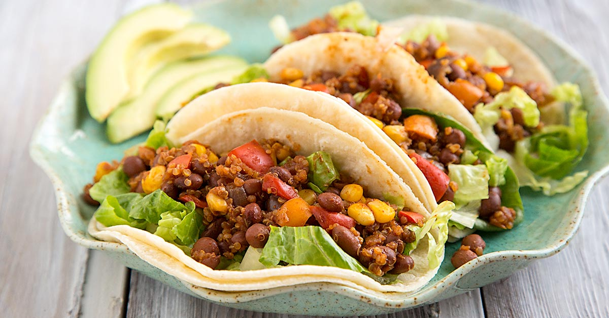 Pinquito Bean and Quinoa Taco Filling
