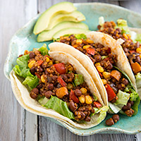 ... Bean and Quinoa Taco Filling | recipe from FatFree Vegan Kitchen