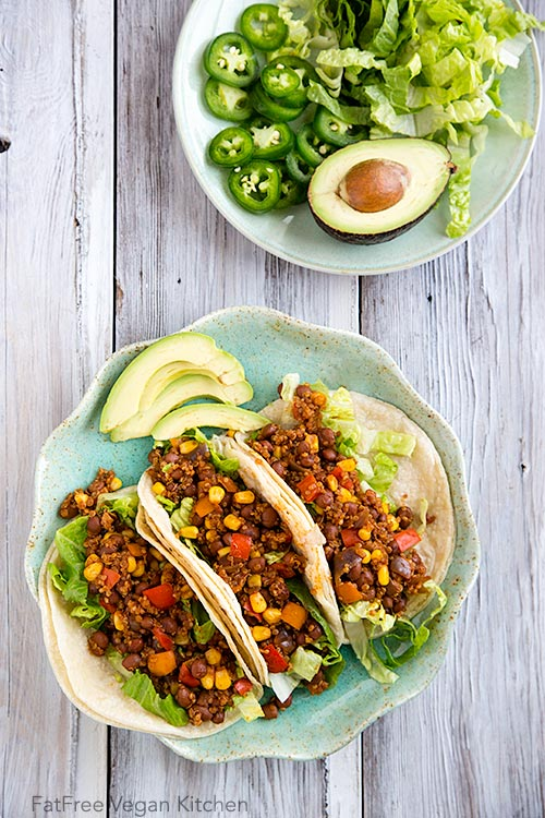 tacos vegan bean taco filling tacos with summer squash vegan bean taco ...