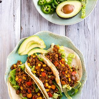 Pinquito Bean and Quinoa Tacos
