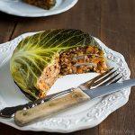 Vegan Chou Farci (Cabbage Stuffed with Barley and Lentils)