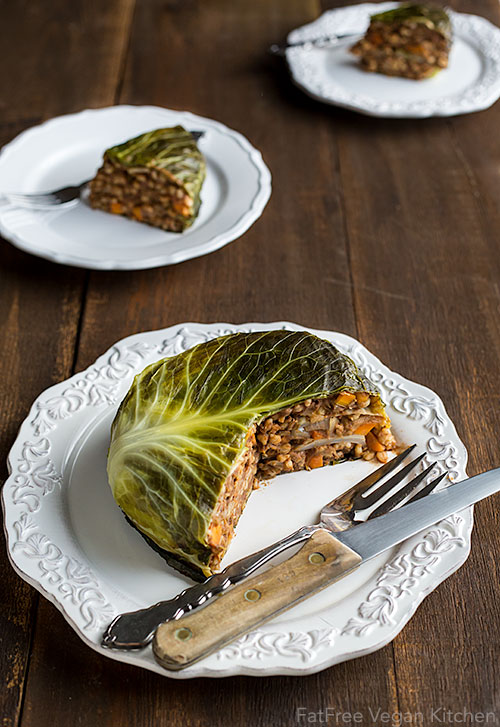 Vegan Chou Farci Cabbage Stuffed With Barley And Lentils