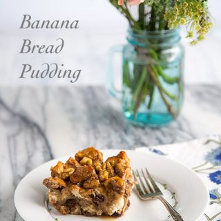 Vegan Banana Bread Pudding