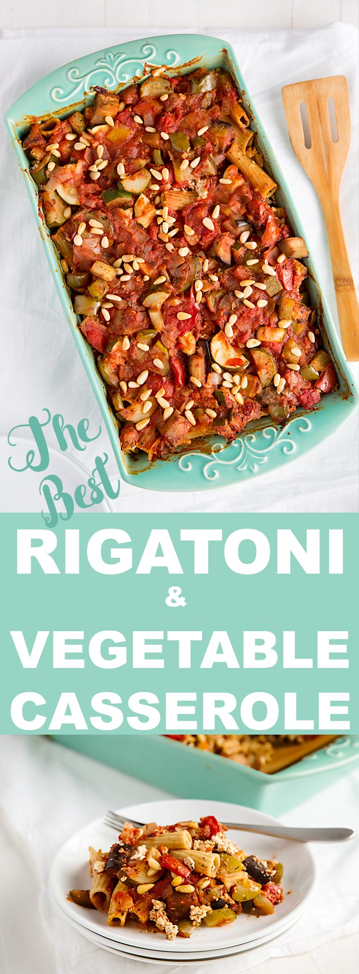 This vegan rigatoni casserole is similar to lasagna, yet it uses less pasta and more vegetables than most lasagna recipes.