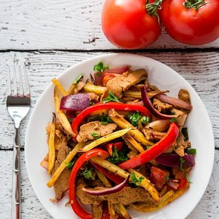 Seitan Saltado (Peruvian Stir-Fry with Potatoes)