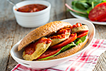 Thumbnail image for Oven-Fried Eggplant PoBoy Sandwiches