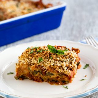 This Low-Fat, Vegan Eggplant Parmesan is Soy-Free and Gluten-Free
