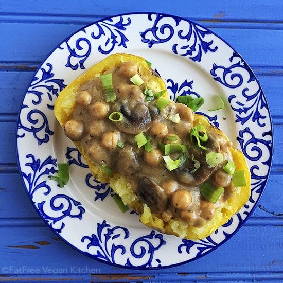 911 Vegan Gravy with Mushrooms and Chickpeas