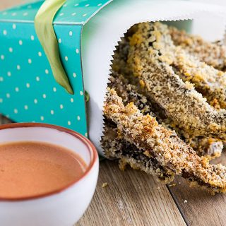 Oil-Free Baked Portobello Fries