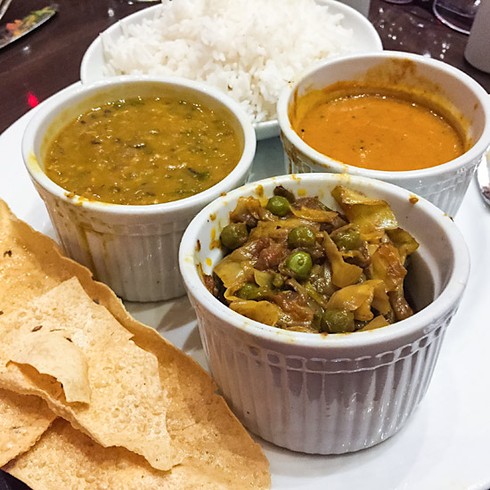 Indian entrees can be veganized