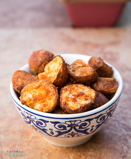 Crispy fat free spanish potatoes recipe from fatfree vegan kitchen crispy fat free spanish potatoes forumfinder Choice Image