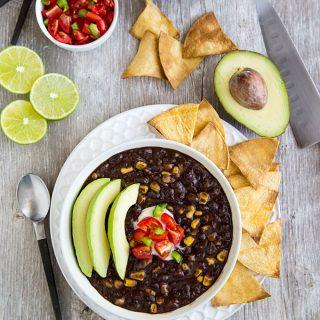 Simple Instant Pot Black Bean Soup