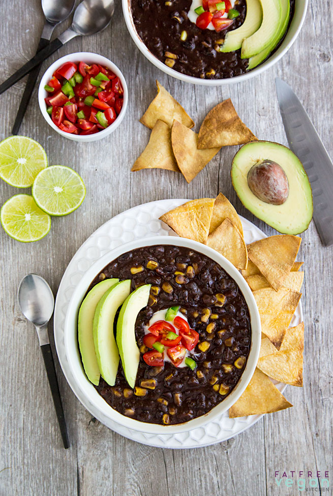 Simple Instant Pot Black Bean Soup