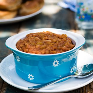 Hawaiian Baked Beans in the Instant Pot