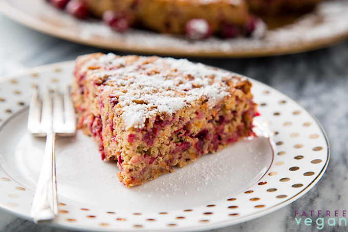 Cranberry-Carrot Cake from Vegan Holiday Kitchen--No Oil Version