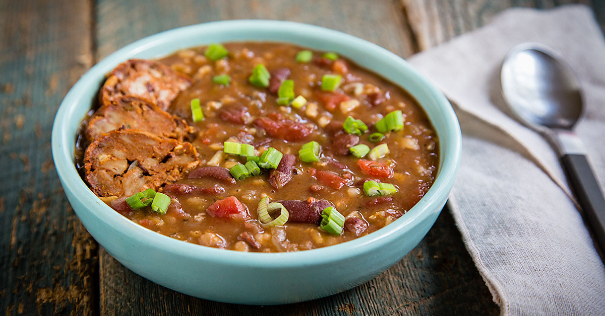 Instant Pot Red Beans And Rice Soup Fatfree Vegan Kitchen