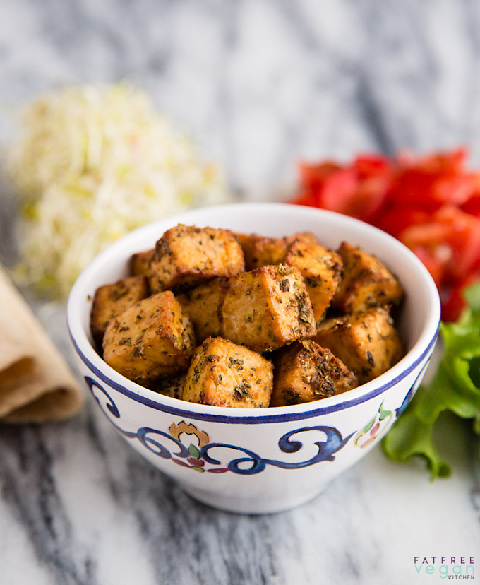 Fat Free Vegan Kitchen: Air Fried Tofu Italian Style
