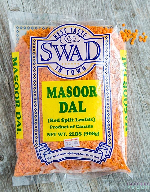 Red Split Lentils or Masoor Dal