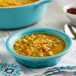 Red Lentil Soup with Cauliflower Rice