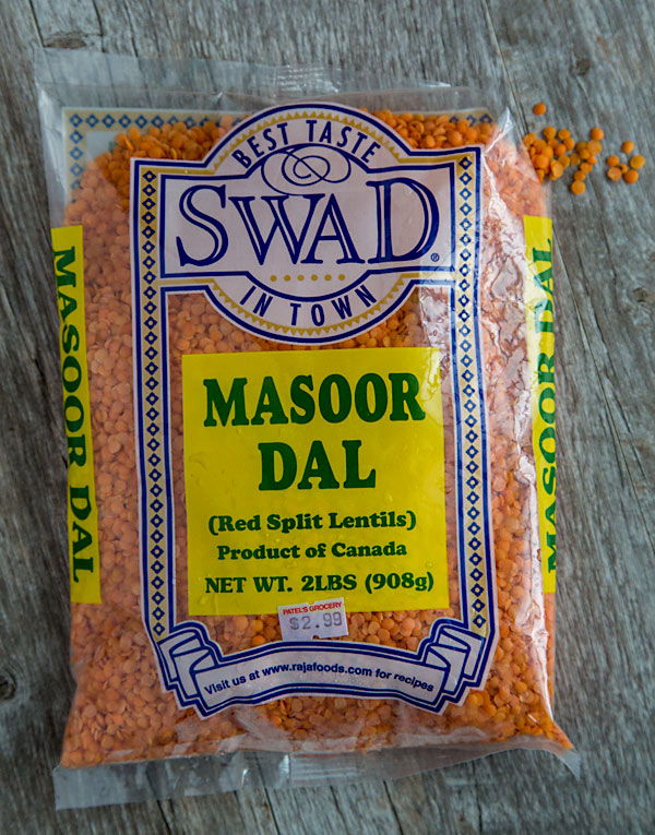 Red Split Lentils or Masoor Dal