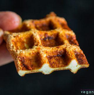 Barbecued Waffle Iron Tofu