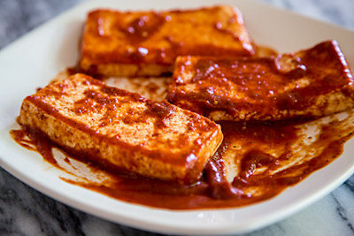 Tofu in Barbecue Sauce