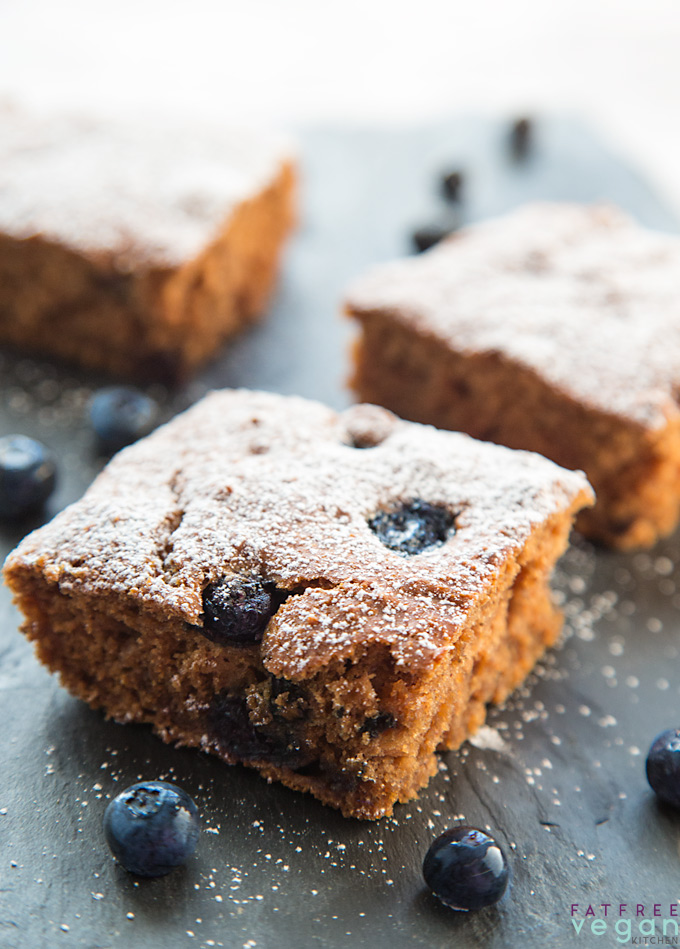 Blueberry Applesauce Cake Bars Recipe From Fatfree Vegan Kitchen