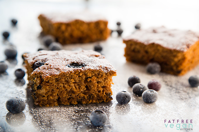Blueberry Applesauce Cake Bars